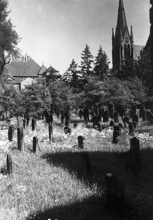 Alter Jüdischer Friedhof in der Rabanusstraße in Fulda (ca. 1920)