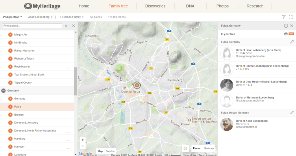 Löbenbergs aus Fulda; Quelle MyHeritage