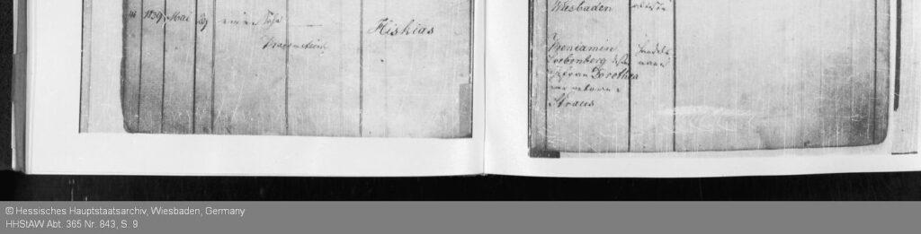 Auszug auf dem Geburtsregister von Hermann Löbenberg; Quelle Hessisches Hauptstaatsarchiv, HHStAW Abt. 365 Nr. 843, S. 9