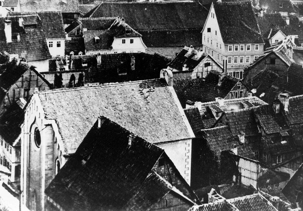Blick auf die Fuldaer Synagoge vor dem Erweiterungsbau ; Quelle Stadtarchiv Fulda