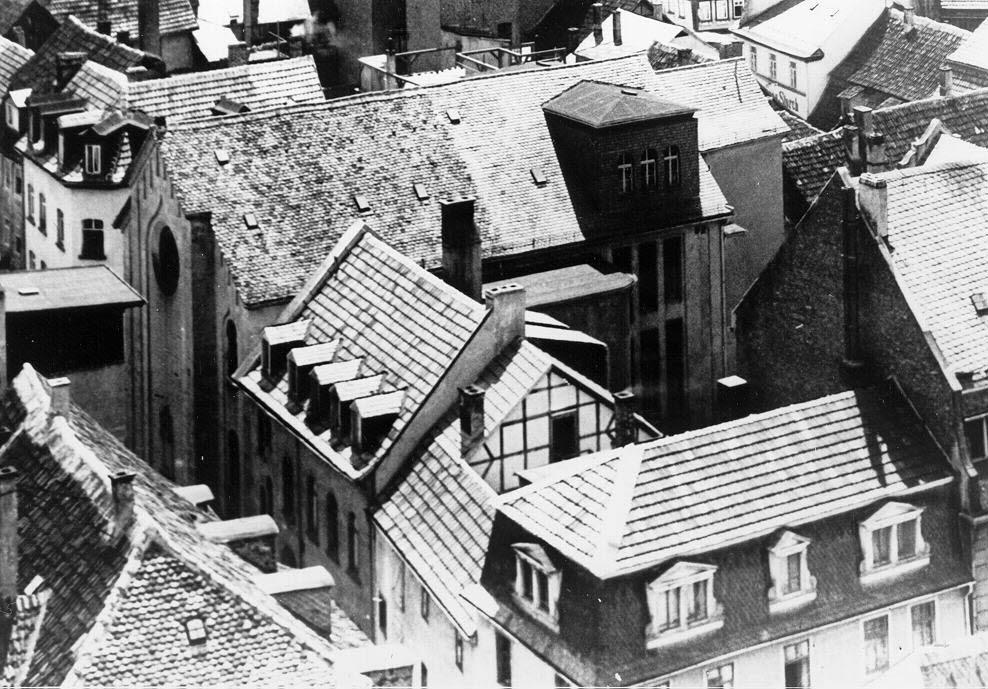Blick auf die Fuldaer Synagoge nach dem Erweiterungsbau; Quelle Stadtarchiv Fulda