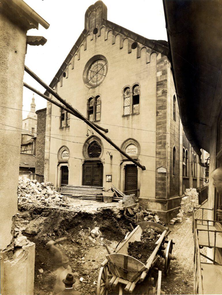 Erweiterung der Synagoge ca. 1926; Quelle Stadtarchiv Fulda