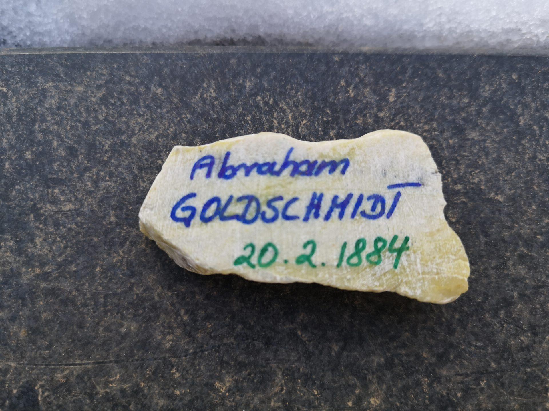 Abraham Goldschmidt, Gedenkstein Februar 2021