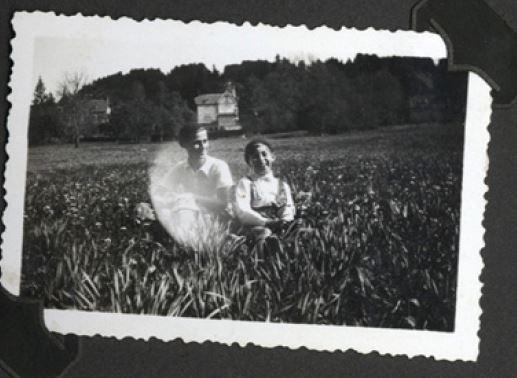 Benno Baruch (Robert) und Paul am Frauenberg, Fulda 1931