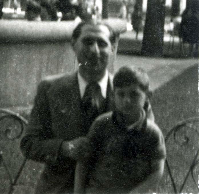 Henri Herbstmann mit seinem Sohn Maurice