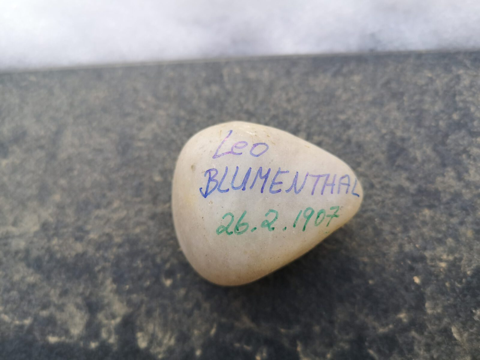 Leo Blumenthal, Gedenkstein Februar 2021