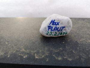 Max Plaut, Gedenkstein Februar 2021