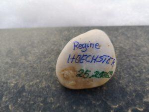 Regine Hoechster, geb Eschwege, Gedenkstein Februar 2021