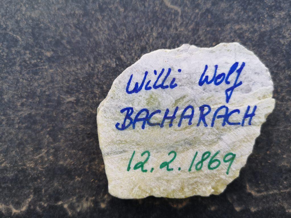Willi Wolf Bacharach, Gedenkstein Februar 2021