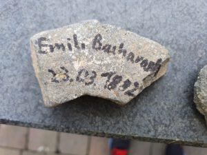 Emilie Bacharach geb. Mayer, Gedenkstein März 2021