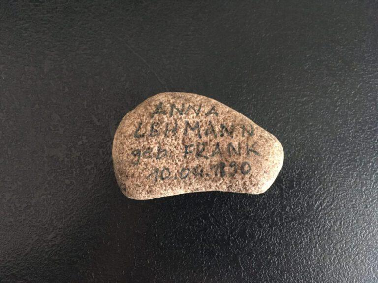 Anna Lehmann, geb. Frank, Gedenkstein April 2021