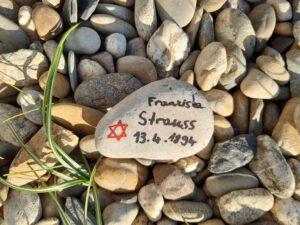 Franziska Strauss, Gedenkstein April 2021