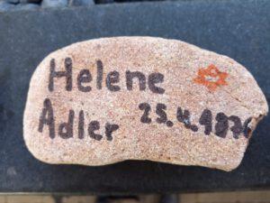 Helene Karoline Adler, geb. Mansbach, Gedenkstein April 2021