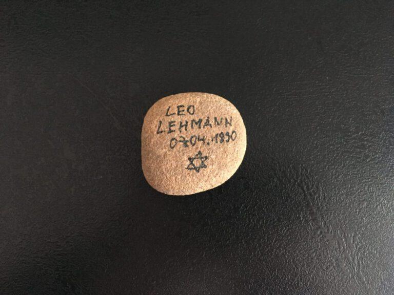 Leo Lehmann, Gedenkstein April 2021