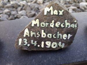 Max Mordechai Ansbacher, Gedenkstein April 2021