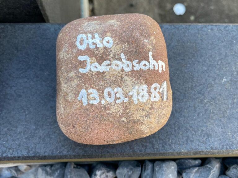 Otto Jacobsohn, Gedenkstein März 2021
