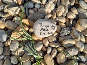 Rosa Malz, Gedenkstein April 2021