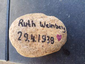 Ruth Weinberg, Gedenkstein April 2021