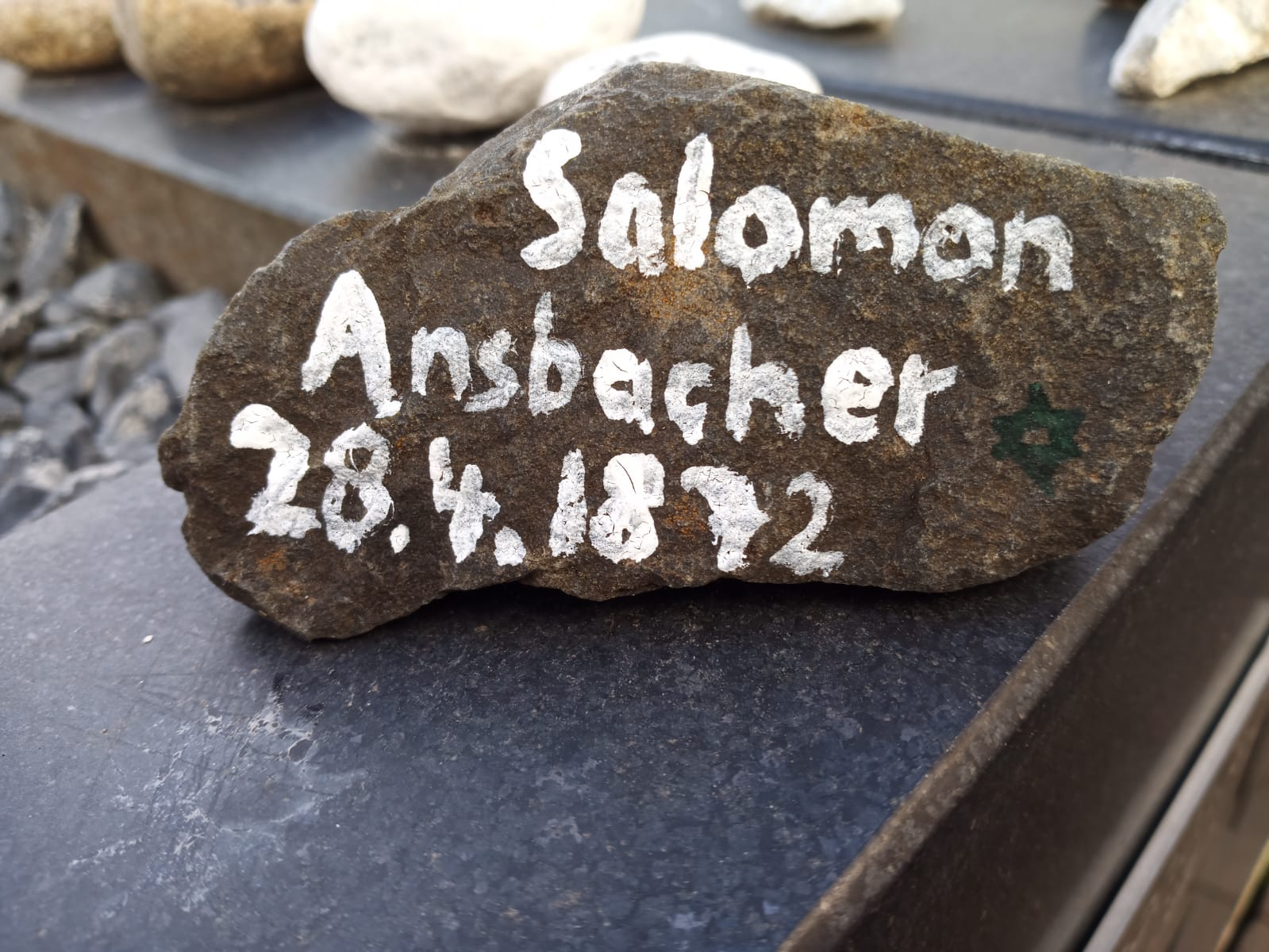 Salomon Ansbacher, Gedenkstein April 2021