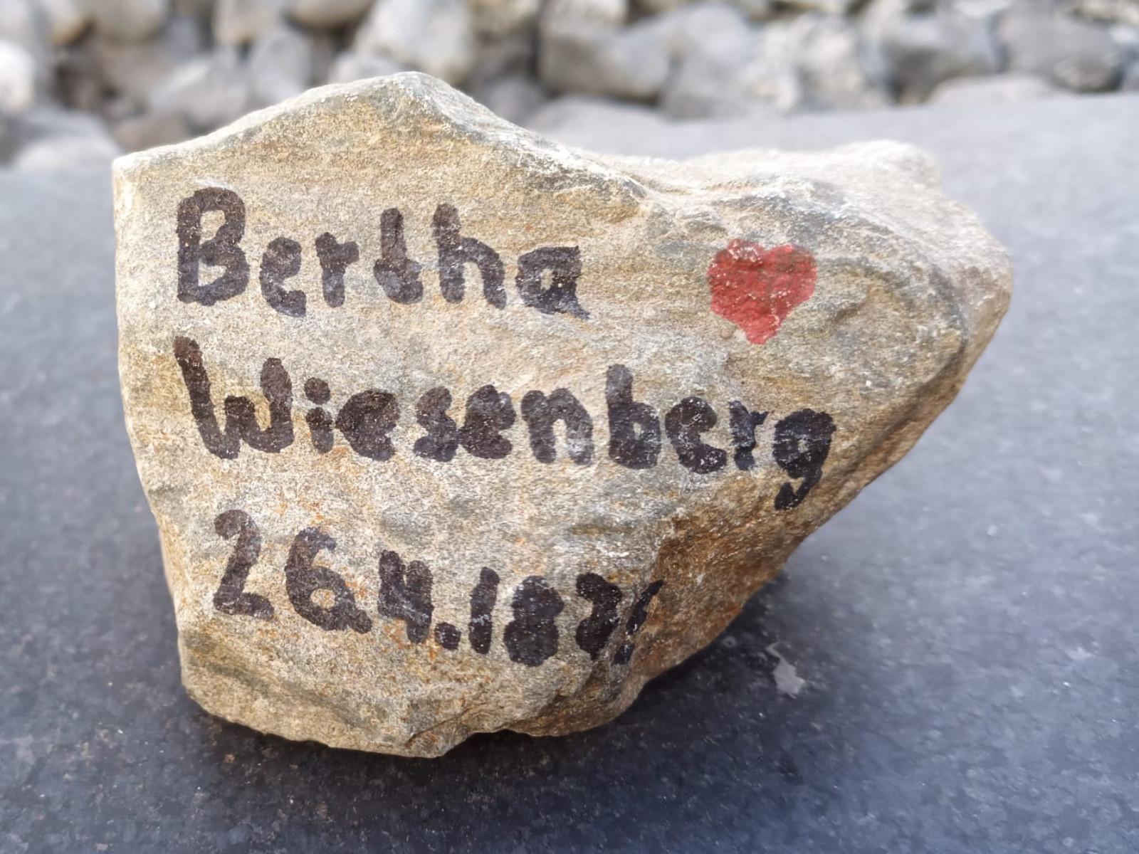 Bertha Wiesenberg, geb. Levi, Gedenkstein April 2021