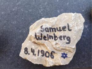 Samuel Weinberg, Gedenkstein April 2021