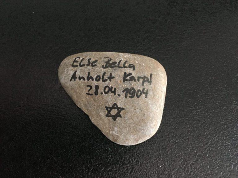 Else Bella Anholt Kampf, Gedenkstein April 2021